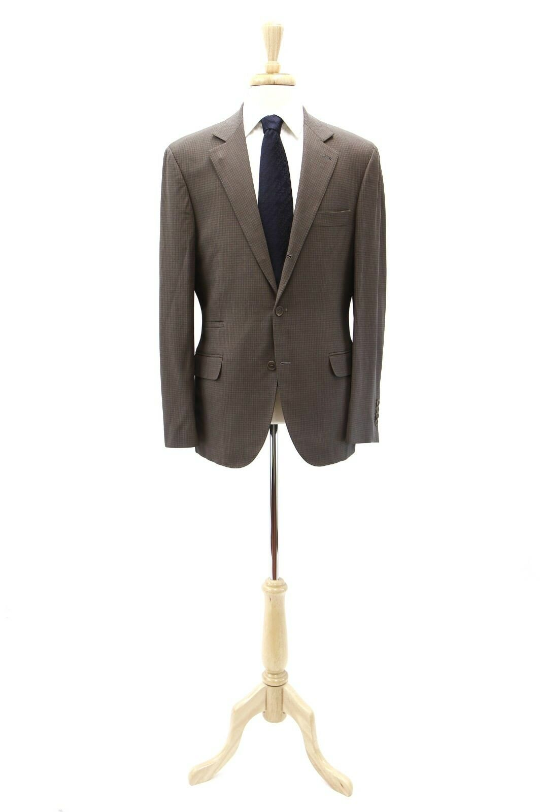 NWT Brunello Cucinelli Mohair-Silk-Wool Houndstooth Print SportCoat 52/42US A181