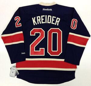 on sale 7feb2 ec241 Details about CHRIS KREIDER NEW YORK RANGERS REEBOK PREMIER THIRD JERSEY