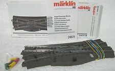 Märklin 24624 C rail Engelse kruis wissel met aandrijving en led licht in verpak