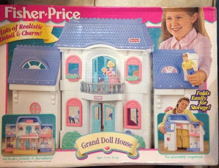 Vintage Fisher-price Loving familia Grand Dollhouse Nuevo En Caja