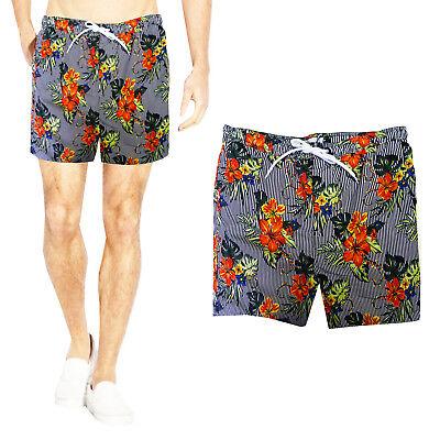 Brave Soul Mens Ford Designer Striped Flower Print Swimming Trunks Beach Shorts Mit Dem Besten Service