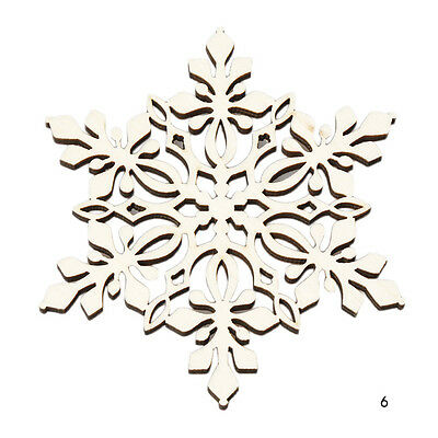 Wooden Carved Snowflake XMAS Mug Coasters Chic Holder Coffee Tea Drinks Cup Mat
