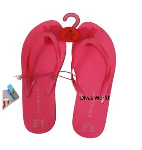 Ladies Pink Flip Flops Beach Summer