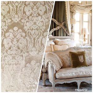 SALE-Designer-Brocade-Satin-Damask-Fabric-Antique-Rose-Gold-By-The-yard