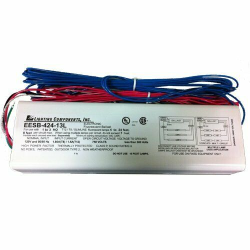 Lighting Components EESB-424-13L 120v Ballast 1-3 Lamp 4ft to 24ft …