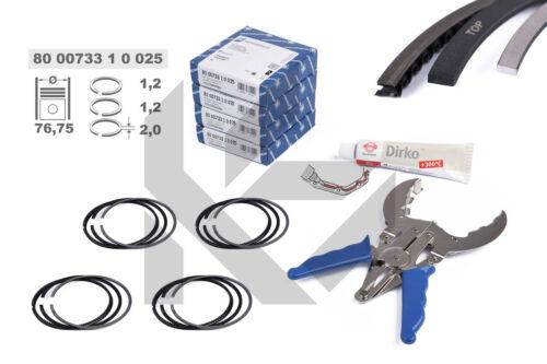 4x Kolbenringe Reparatursatz 800073310025 0,25 mm SKODA VW AUDI SEAT 1,4 TSI