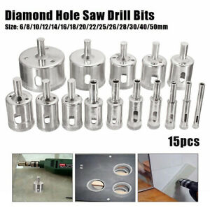 "3Pcs 20 mm 3//4/"" inch Diamond Drill Bits Coated Hole Saw Cutter Glass Tile Stone"