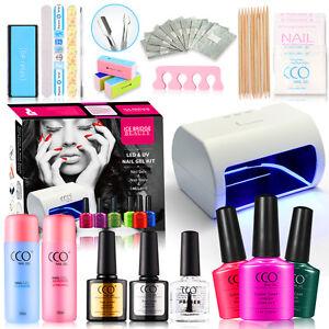 led lamp cco official gift set uv nail gel polish starter. Black Bedroom Furniture Sets. Home Design Ideas