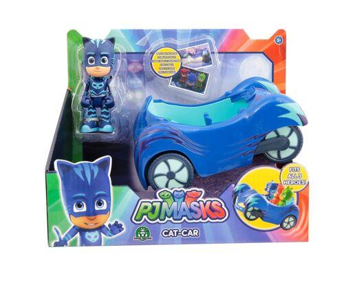 Super Pigiamini PJ Masks Veicolo Gattomobile con Personaggio Gattoboy