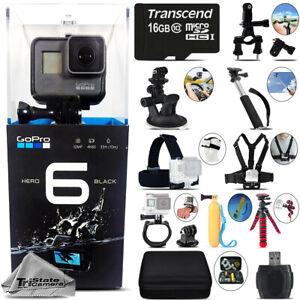 GoPro HERO6 Black 4K Ultra HD, 12MP, Wi-Fi Waterproof Action Camera -Mega Kit