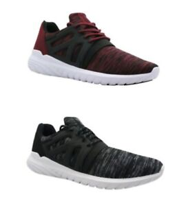 6ccef9f1d2de Avia Men s Black or Red Lace-Up Caged Athletic Running Sneakers ...