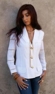 giacche bianca donne gessata eleganti