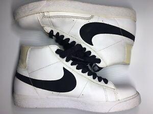 size 40 3c546 9740c Image is loading Nike-Blazer-White-Black-Hightops-315877-102-Size-
