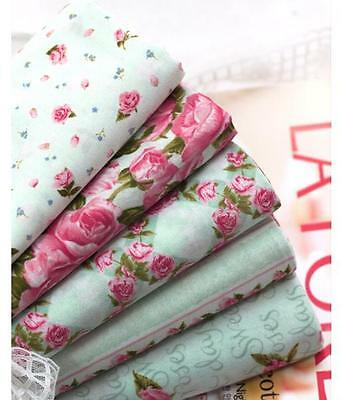 5PCS ROSE FLORAL  Quilting Crafts Home Deco New Fabric 100% Cotton