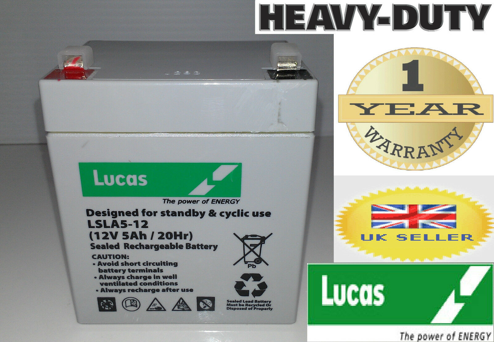 10 X Lucas 12V 5AH (Replace 4AH 4.5AH) AGM GEL Rechargeable Deep Cycle Battery