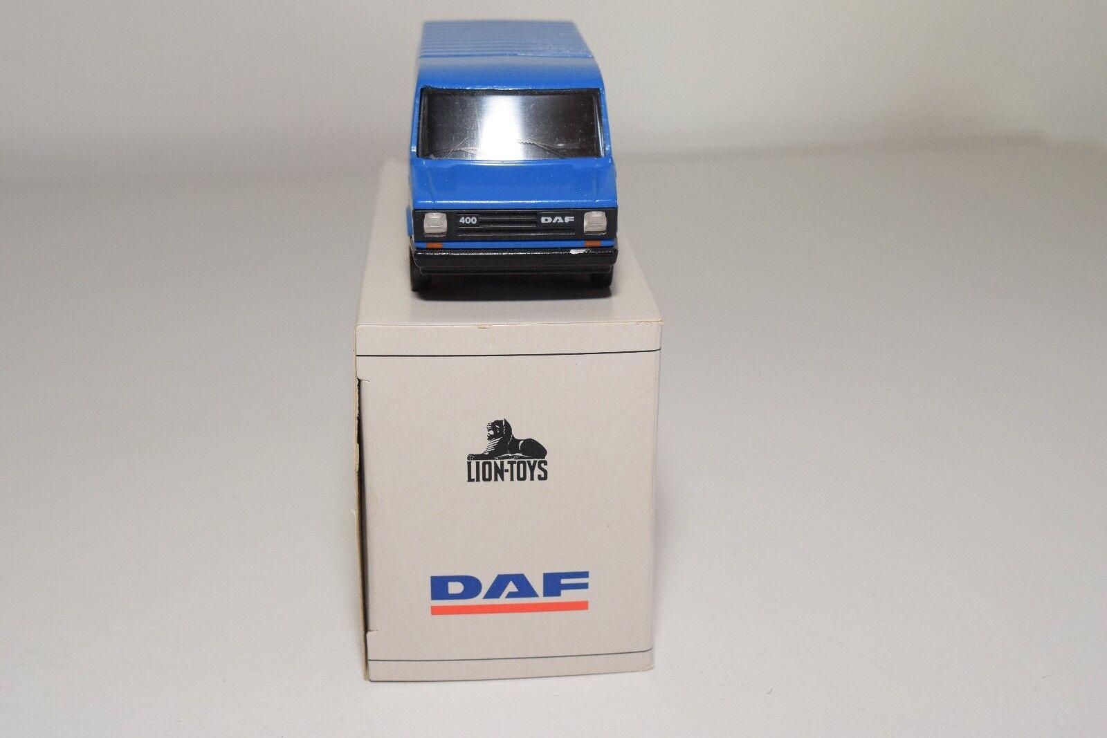 ± LION CAR DAF DAF DAF 400 BUS VAN STER BANDENSERVICE VERY NEAR MINT BOXED 09c6d0