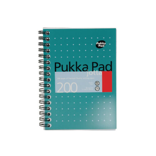 Pukka Pad A4 A5 A6 Ruled Jotta Notepads packs of 3 200 pages 80gsm wirebound pad