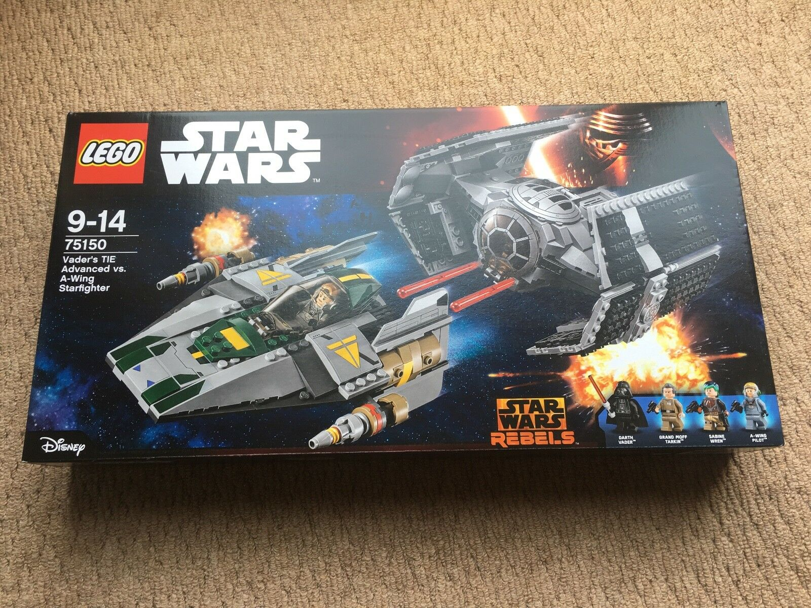 Lego Star Wars 75150 - Vader's TIE Advanced vs A-Wing Starfighter NEW - Retired