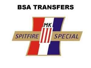 BSA-A65-Spitfire-especial-Calcomanias-Traslados-Motocicleta-Clasica