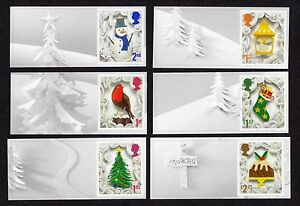 2016 CHRISTMAS SMILERS Set of Six SINGLE LITHO STAMPS + LABELS