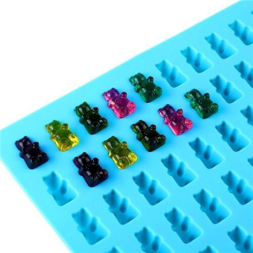 50 Cavity Silicone Gummy Bear Candy Chocolate Mold With Dropper Tool QK