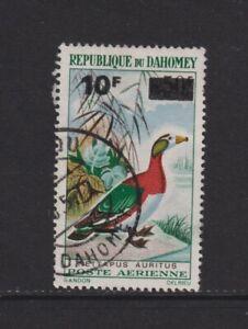 Dahomey - 1966, 10f on 50f African Pygmy Goose, Bird stamp - Used - SG 250