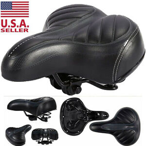 Comfort-Wide-Big-Bum-Bike-Bicycle-Gel-Cushion-Extra-Sporty-Soft-Pad-Saddle-Seat