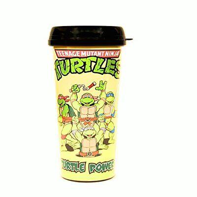Silver Buffalo Nickelodeon Teenage Mutant Ninja Turtles Plastic Travel TMNT Mug 16-Ounce Cups Set of 2