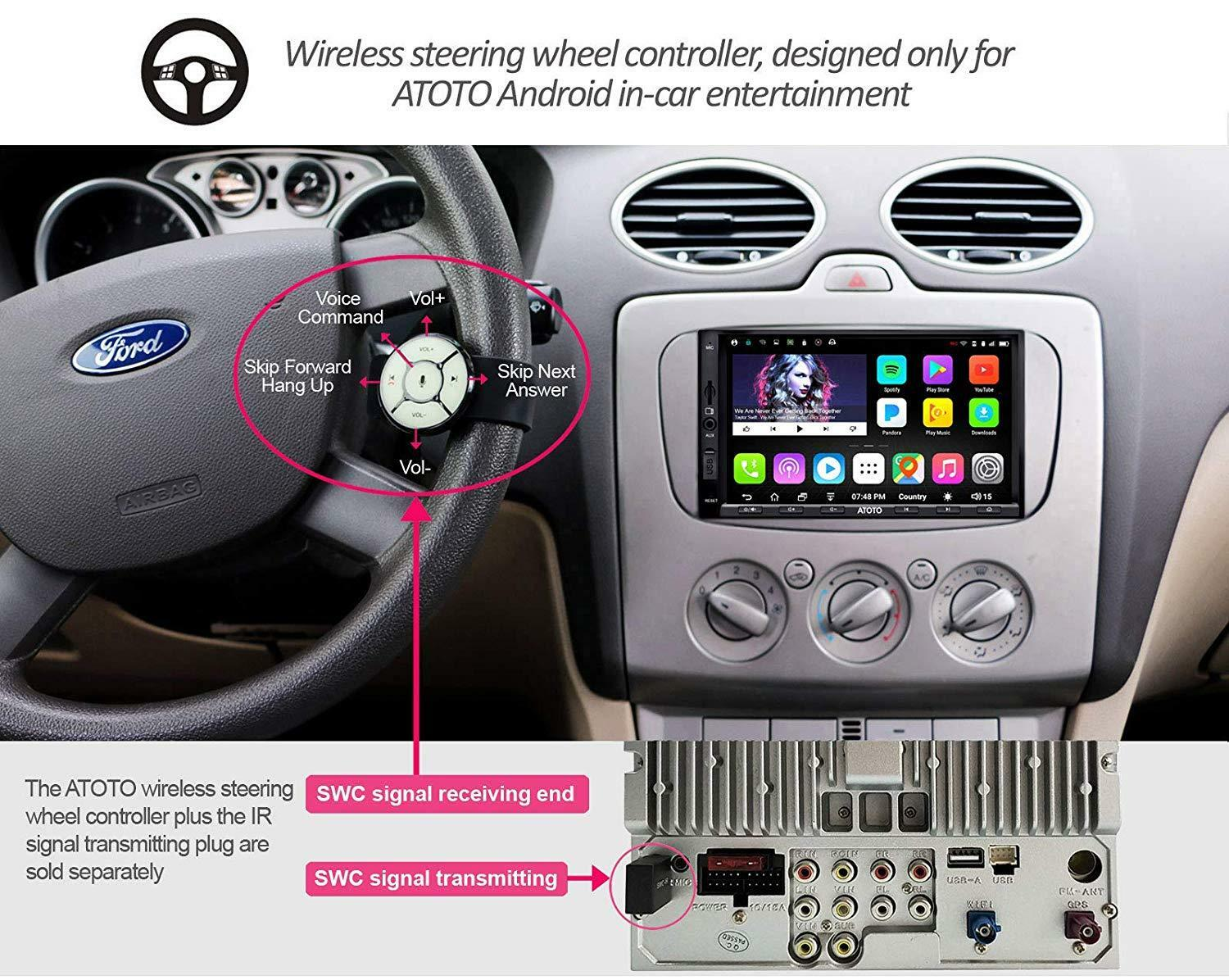 ATOTO A6 2 DIN Android Car GPS Stereo Radio /a6y2710sb W/ Solderless Harness