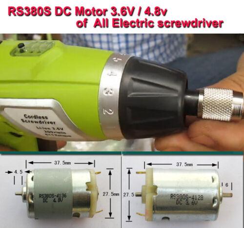 RS380S 3.6 V DC Moteur De Perceuse électrique sans fil perceuses Visseuse