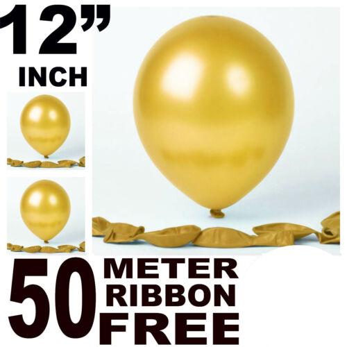 "Party Balloons Assorted 12/"" Inch Bright Metallic Balloon Birthday Wedding Decor"
