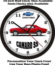 CHEVROLET CAMARO SS WALL CLOCK-FREE US SHIP-NEW!