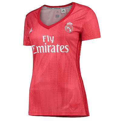 Ufficiale Real Madrid Calcio Third Shirt Jersey Tee Top 2018 19 Da Donna Adidas-mostra Il Titolo Originale