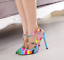 Rivet-Rainbow-Women-Ankle-Buckle-Sandals-Pointed-Toe-High-Heel-Stilettos-Sexy-C8 thumbnail 5