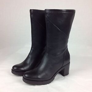 90adf7f46d3 UGG JESSIA BLACK WATER-RESISTANT LEATHER SHEEPSKIN BOOTS, US 7 | eBay
