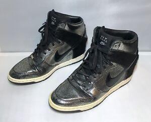 bfaf48bb4983 Nike Dunk Sky Hi New York City NYC Black Metallic Silver 598216-002 ...