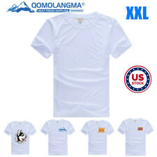 Us 10pcs Plain Xxl White Men Modal T Shirt Heat Transfer Press Sublimation Blank