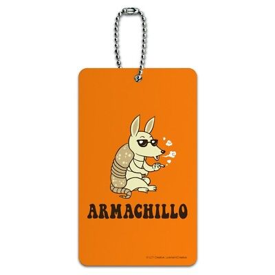 Armadillos Handbag Tag For Travel Bag Suitcase Accessories 2 Pack Luggage Tags