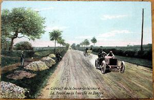1906-Car-Auto-Racing-Postcard-French-039-Circuit-de-la-Seine-039-30