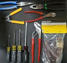 9 Piece Electricians Tool Set Withleather Pouch And Web Belt