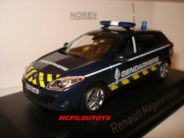NOREV RENAULT MEGANE ESTATE GENDARMERIE YELLOW STRIPPING 2012 au 1/43°