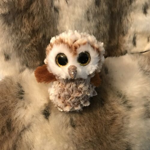 """PERCY THE BEANIE BOO BROWN AND WHITE OWL MWMT 6"""""""