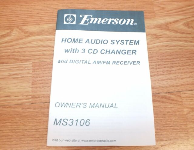 emerson 3 cd changer dual cassette recorder home stereo system with rh ebay com Best Portable CD Players emerson 3 compact disc player manual