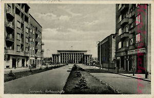 AK-Sosnowiec-Sosnowitz-Schlesien-Rathaus-Rathausstrasse-1942-19-02