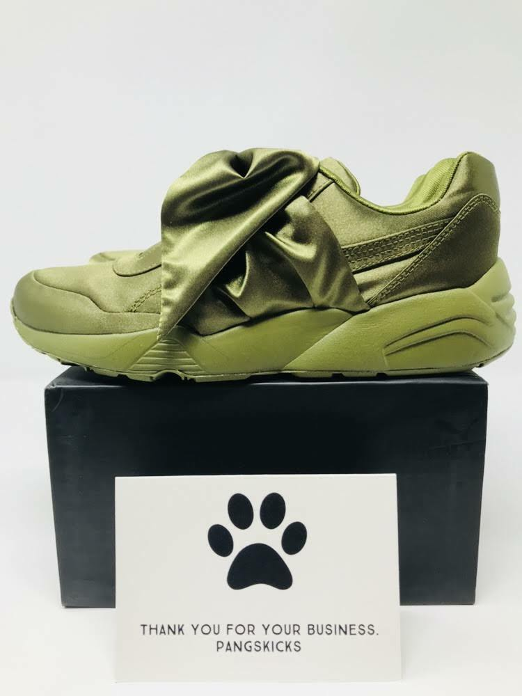 Puma Fenty by Rihanna Bow Sneaker 'Olive' 365054-04 Women's Size 6-8