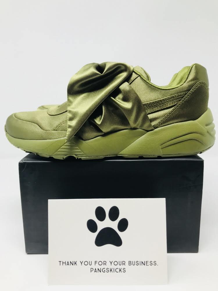 Puma Fenty 'Olive' by Rihanna Bow Sneaker 'Olive' Fenty 365054-04 Women's Size 6-8 6ac0dc