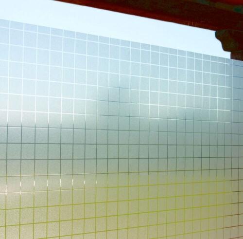 LINEA Fix Dekorfolie statische Fensterfolie Check Karo Größenwahl 92 cm hoch