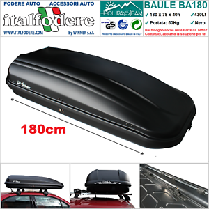 400 LT BOX BAULE PORTABAGAGLI DA TETTO AUTO UNIVERSALE