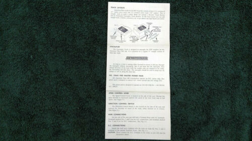 AMERICAN FLYER M5279 TRACK LAYOUTS FOR HO INSTRUCTIONS PHOTOCOPY