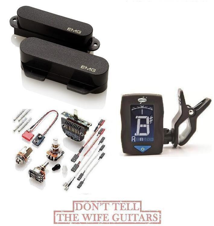 Emg T Set Negro 2 Tele Pastillas Pastillas Pastillas ft RT (Guitar Tuner) Fender Telecaster Replacemet 056cce
